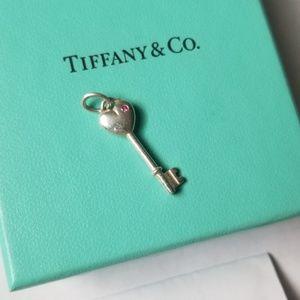 Tiffany & Co Pink Sapphire Key pendant charm